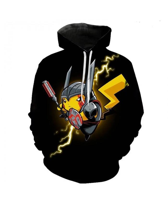 2021 Autumn New Men's And Women's Children's Casual Hoodie Pokemon 3d Printing Cartoon Anime Children's Pullover Coat