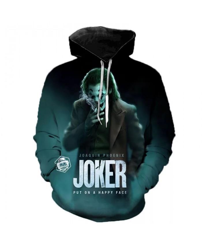 Horror Movie Joker 3D Print Hoodie Funny Pullover Clown Sweatshirt Hip Hop Sudadera Hombre Coat Streetwear Harajuku Hoodies