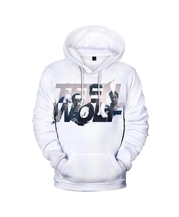 White Hoodie TV series TEEN WOLF 3D Hoodies Men women Fashion Harajuku Autumn Kids Streetwear TEEN WOLF 3D Print Men's pullovers