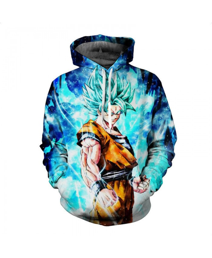 3D Angry GOKU Printed Men Pockets Hoodies Hipster Fashion Streetwear Jumper for Men Women Dragon ball Hooded