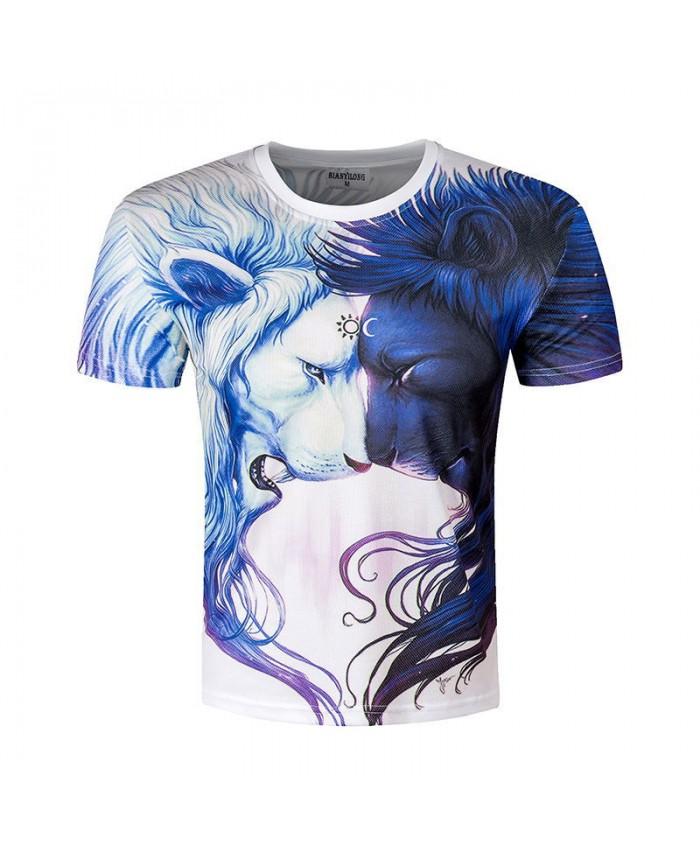 3D Animal Tshirts Men Funny Lion T shirts Computer Print Tops Casual 2021 Cool Summer Creative Hip Hop Hombre Tees