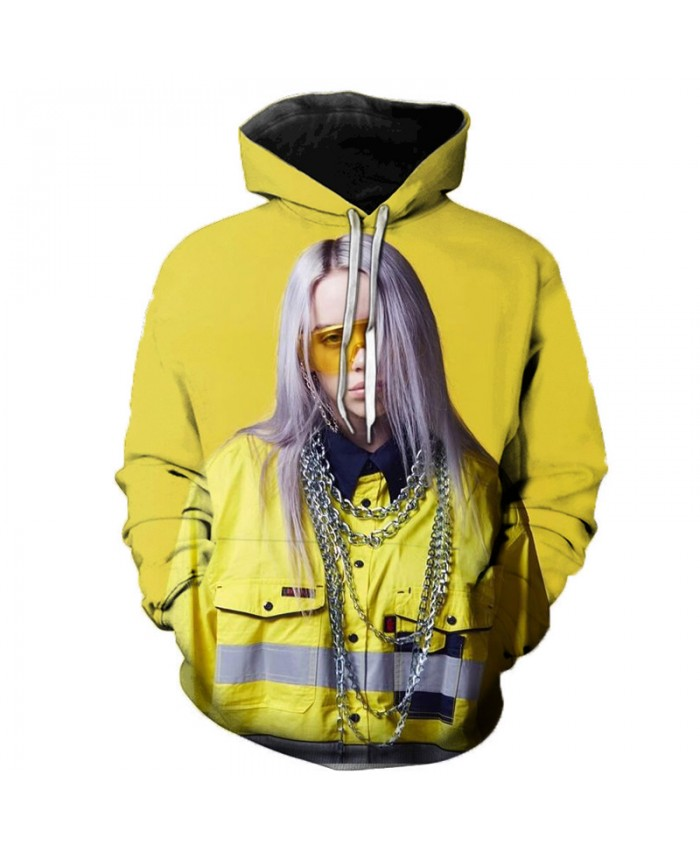 3D Billie Eilish Hoodies Sweatshirts Men Women Casual Harajuku Hoodie Print Billie Eilish 3D Hoodies Men Winter Sweatshirts