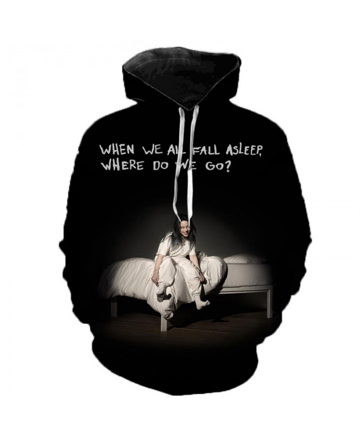 3D Billie Eilish Print Hoodies Sweatshirts Men Women Long Sleeve Harajuku Hoodie Fashion Casual Streetwear Plus Size Hoodies