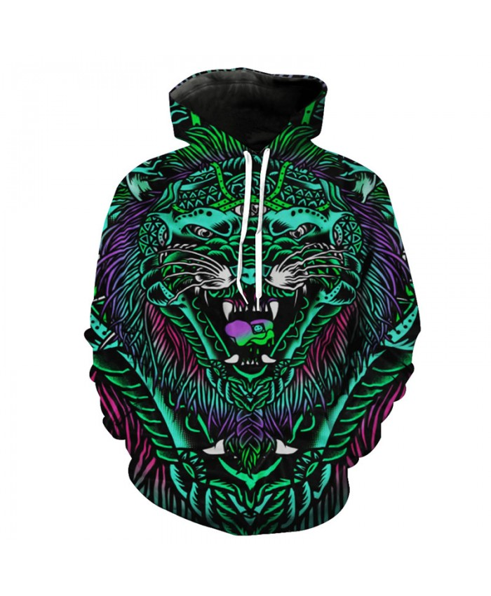 3D Demon Wolf Fashion Street Hooded Sweatshirt Hot Selling Hoodies Pullover Men Women Casual Pullover Sportswear