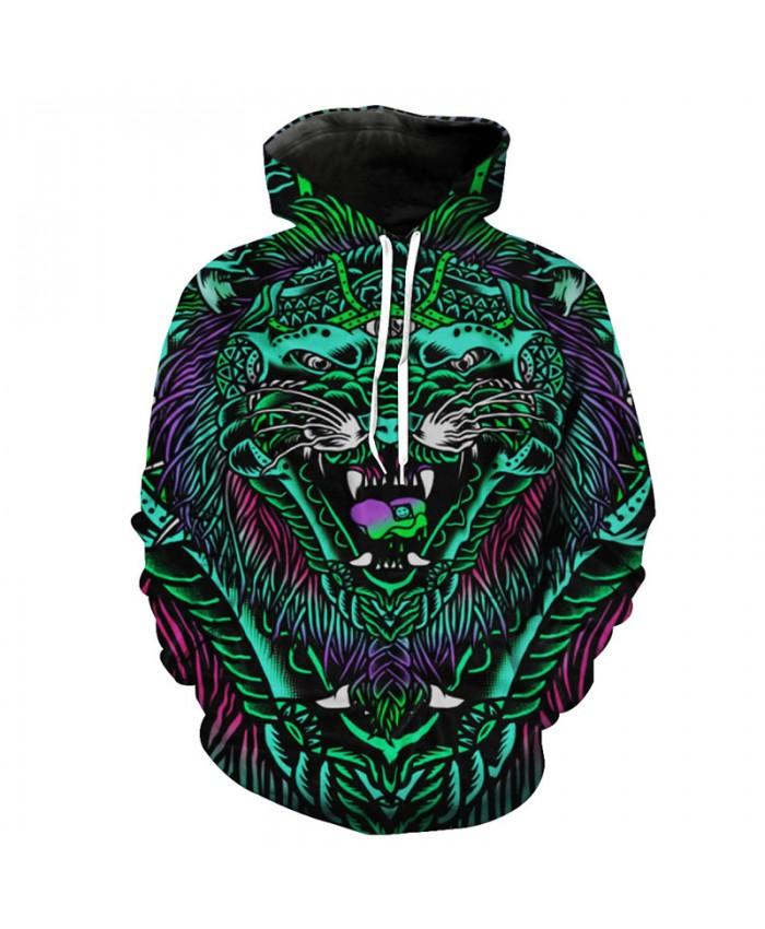 3D Demon Wolf Fashion Street Hooded Sweatshirt Hot Selling Hoodies Pullover Men Women Casual Pullover Sportswear