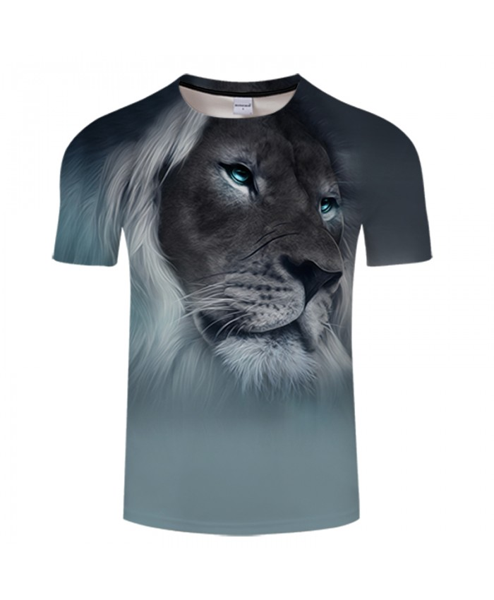 3D Digital Print T shirt Lion Design Short Sleeve shirt Unisex Summer Tee Top Plus Size 6XL Camiseta Male Brand Tee