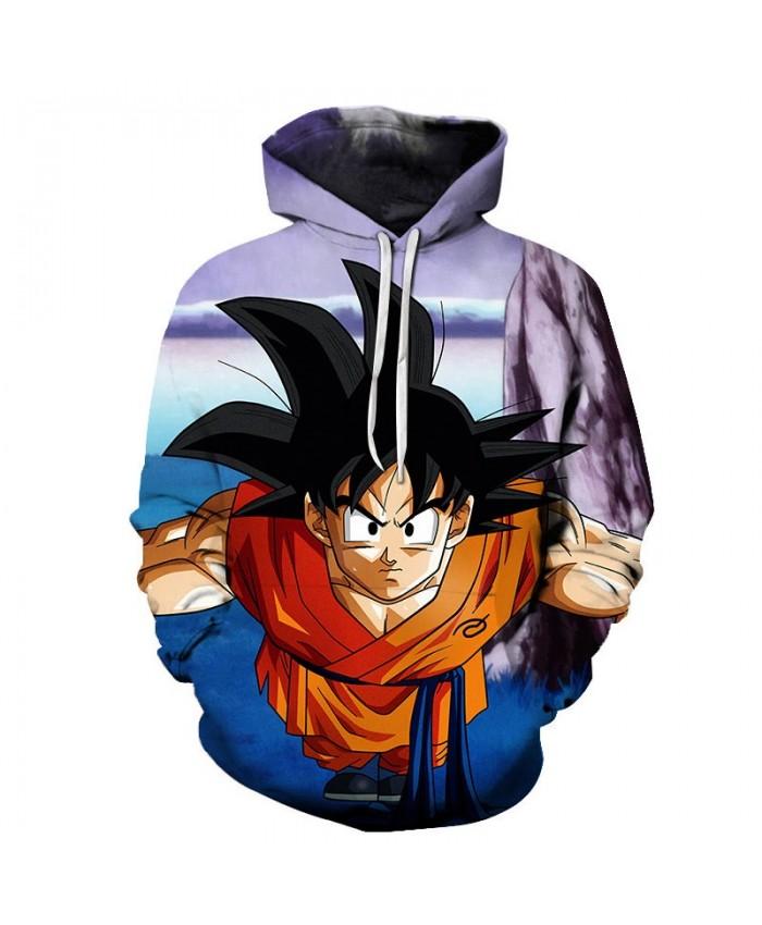 3D Dragon Ball Leaning Forward Men Pullover Sweatshirt Pullover Hoodie Casual Hoodies Fashion Anime Men Hoodie