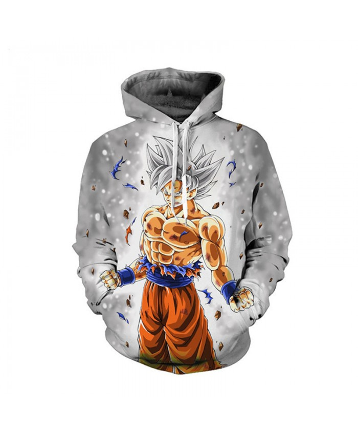3D Dragon Ball Super Anime Ultra Instinct Super Saiyan Goku Printed Men's Dragonball Long Sleeve Hoodie Dragon Ball Z Sweatshirt