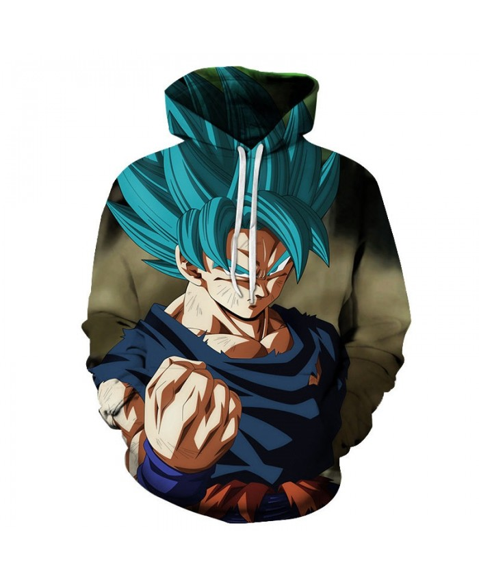 3D Dragon Ball Violent Fist Men Pullover Sweatshirt Pullover Hoodie Casual Hoodies Fashion Men Tracksuits Hoodie