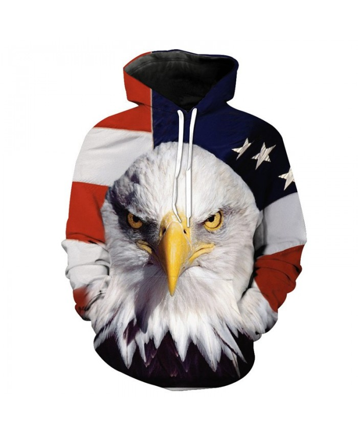 3D Eagle Fashion Men's Hoodies Casual Hoodie Autumn Tracksuit Pullover Hooded Sweatshirt