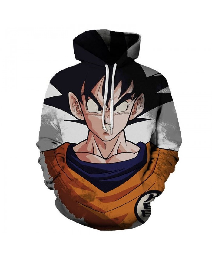 3D Five Senses Erect Dragon Ball Men Pullover Sweatshirt Pullover Hoodie Streetwear Sweatshirt Casual Men Hoodie