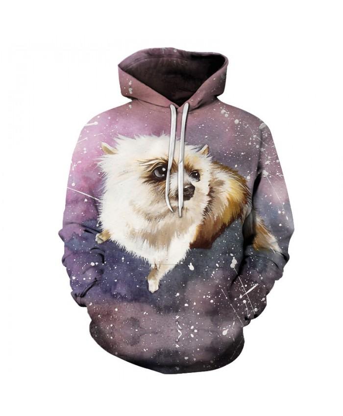 3D Galaxy Dog Hoodies Sweatshirts Men Tracksuits Printed Coat Streetwear Clothing 3D Pullover Anime Hoodie Drop Ship