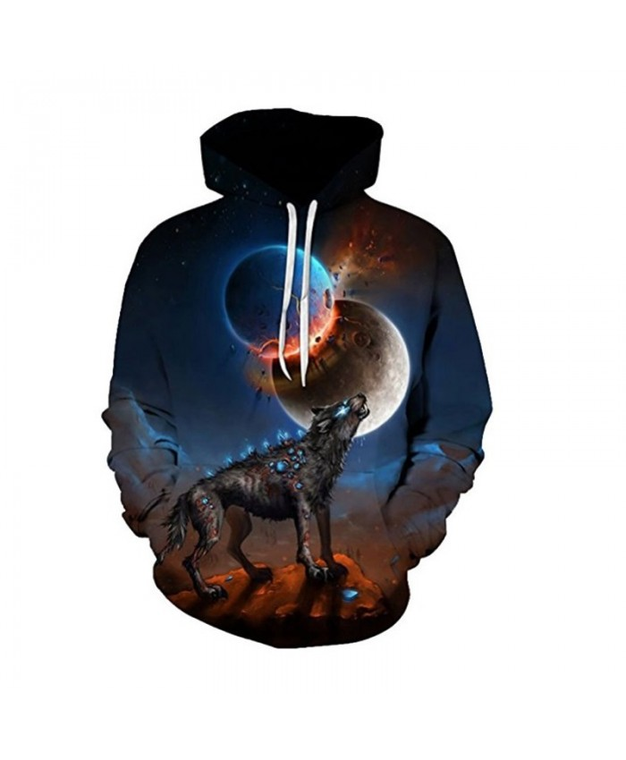 3D Galaxy Wolf Hoodies Sweatshirt Jacket Men Women Long Sleeve Pullovers Funny 3D Print Tracksuit Plus Size Dropship