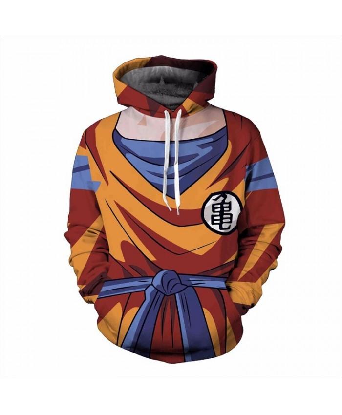 3D Hoodie Men Classic Anime Dragon Ball Goku Hoodies Tracksuits Super Saiyan Hooded Sweatshirt Outerwear Plus size S-6XL