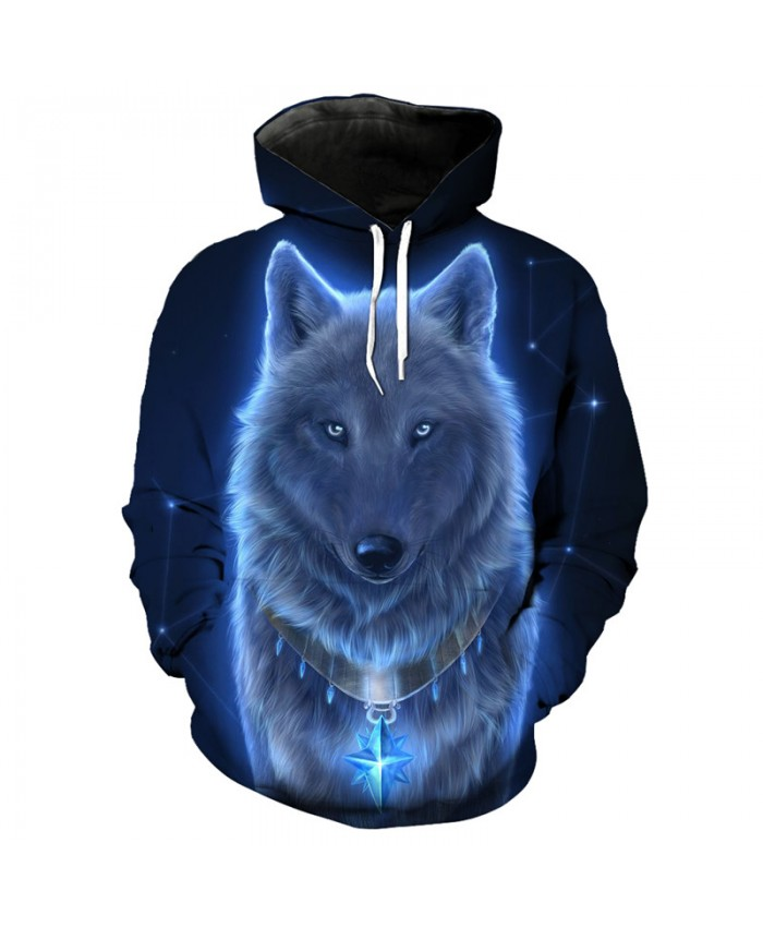 3D Hoodie Wolf series fashion hooded sweatshirt pullover Men Women Casual Pullover Sportswear