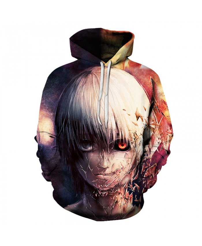 3D Hoodies Men Tokyo Ghoul 3D Full Print Novelty Hoody Sweatshirt Fashion Pullover Tracksuits Streetwear Harajuku Tops Hipster