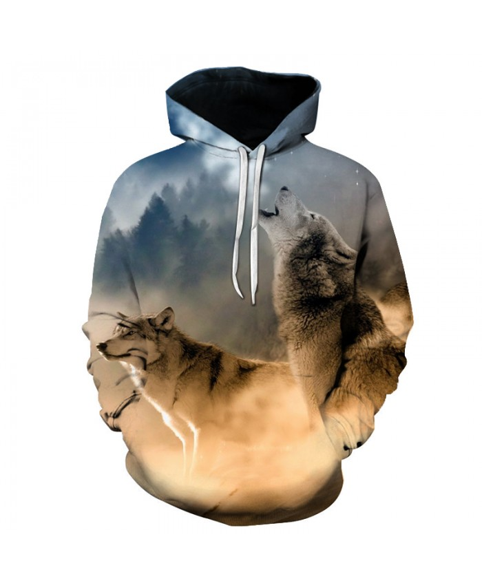 3D Hoodies Men Two Wolfs Sweatshrits Hooded Jackets Unisex Plus Outwear Brand Qulaity Hoody 6XL Pullover Male Tracksuits