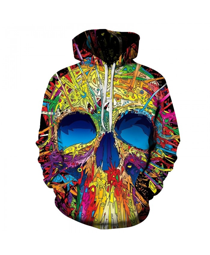 3D Hoodies Men Women Sweatshirt Brand Colorful Skull Printed Metal band Pullover Hip Hop Tracksuit Rock Hoody 6XL Quality Jacket