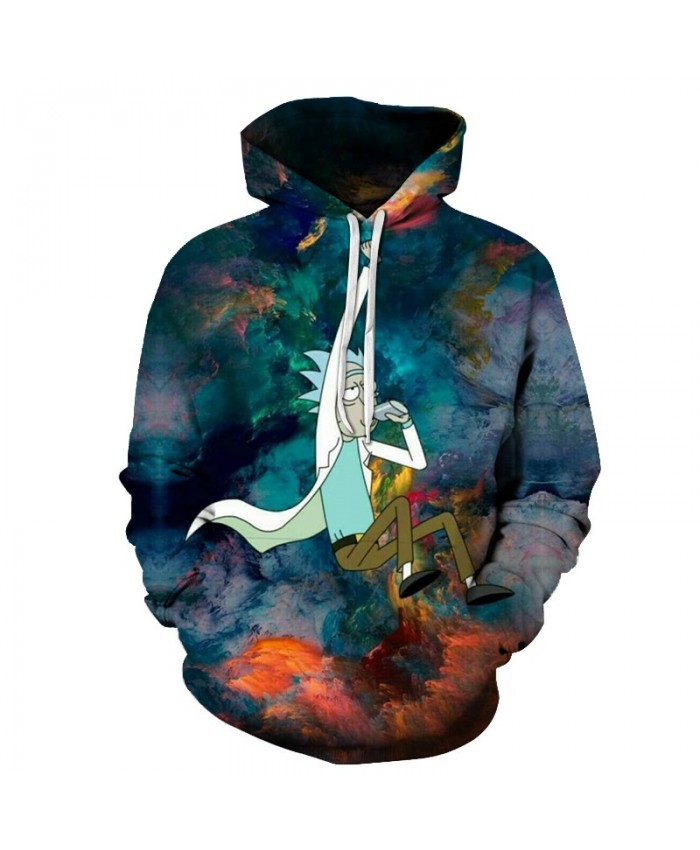 3D Hoodies Rick And Morty Hoodie SweatshirtS Men Tracksuits Casual Pullover Comic Streetwear Fashion Coats Male Funny Hoody 2019