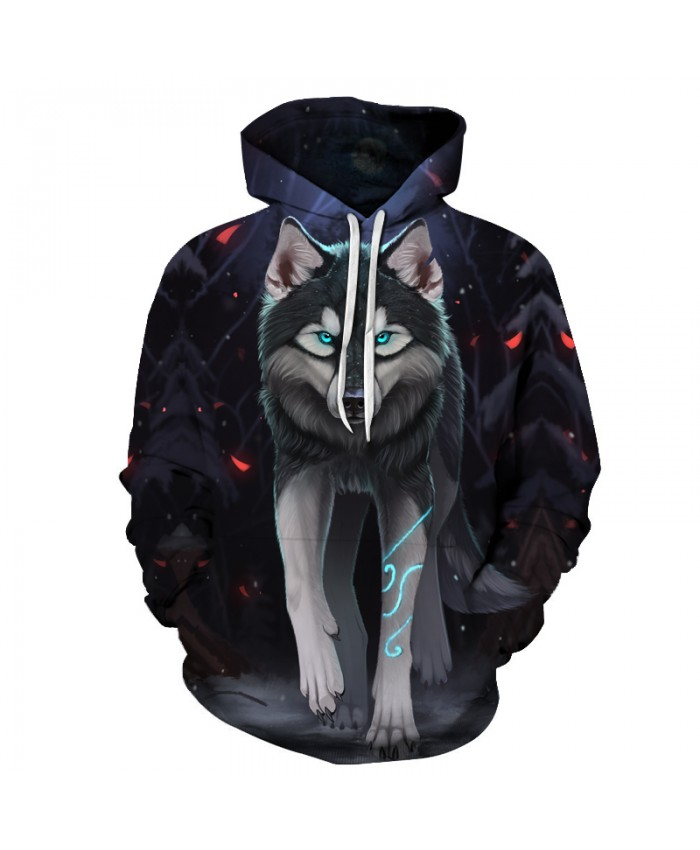 3D Hoodies Wolf Printed Sweatshirts Men Women Pullover Unisex Tracksuits Fashion Casual Outwear Skateboard 6XL Plus Jackets