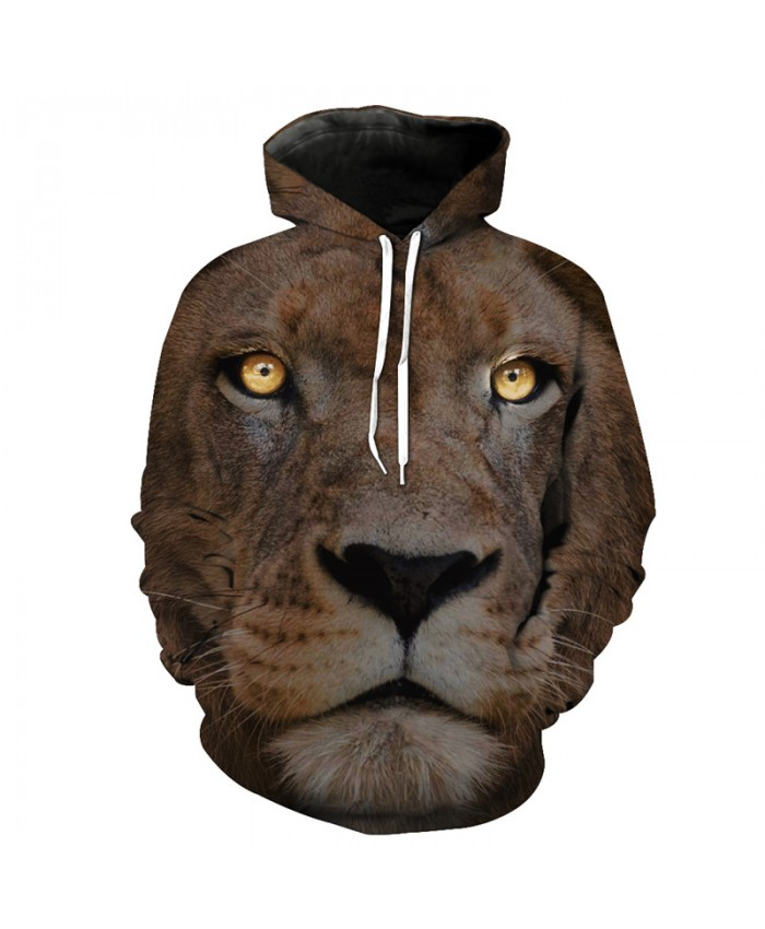 3D Lion Face Casual Hooded Sewatshirt Casual Hoodies Casual Hoodie Autumn Tracksuit Pullover Hooded Sweatshirt