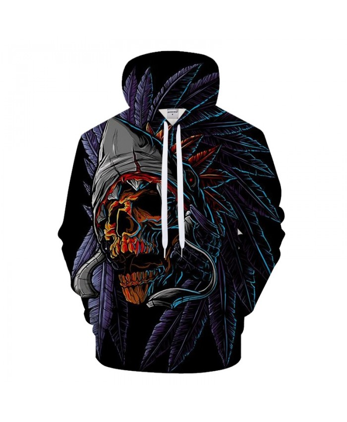 3D Men Hoodies Skull Hoody Printed Tracksuit Casual Sweatshirt LongSleeve Coat Streatwear Pullover Harajuku DropShip