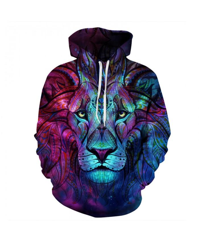 3D Painted Totem Lion Printing Fashion Hooded Sweatshirt Casual Hoodies Casual Hoodie Autumn Tracksuit Pullover Hooded Sweatshirt