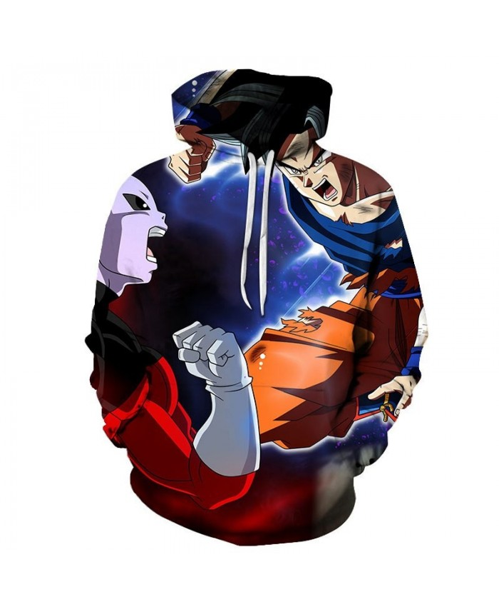 3D Positive Confrontation Dragon Ball Men Pullover Sweatshirt Pullover Hoodie Casual Hoodies Fashion Men Hoodie