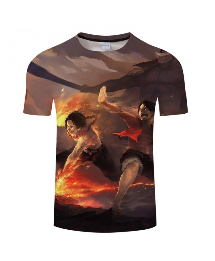 3D Print Attack With Fire One Piece Men tshirt Crossfit Shirt Casual Summer Short Sleeve Male tshirt Round Neck Men