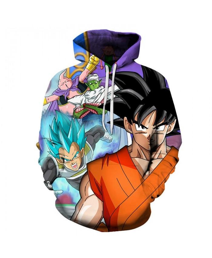 3D Print Bick Appears Dragon Ball Men Pullover Sweatshirt Pullover Hoodie Casual Anime Hoodies Fashion Men Hoodie