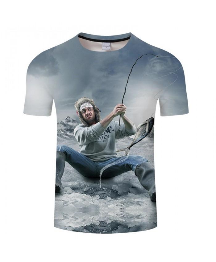 3D Print Capturing A Fish tshirt Men tshirt Summer Casual Slim 2019 Hot Sell Short Sleeve O-neck Tops&Tee Drop Ship