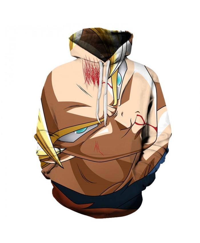 3D Print Dragon Ball Forehead Injury Men Pullover Sweatshirt Pullover Hoodie Casual Hoodies Fashion Anime Men Hoodie