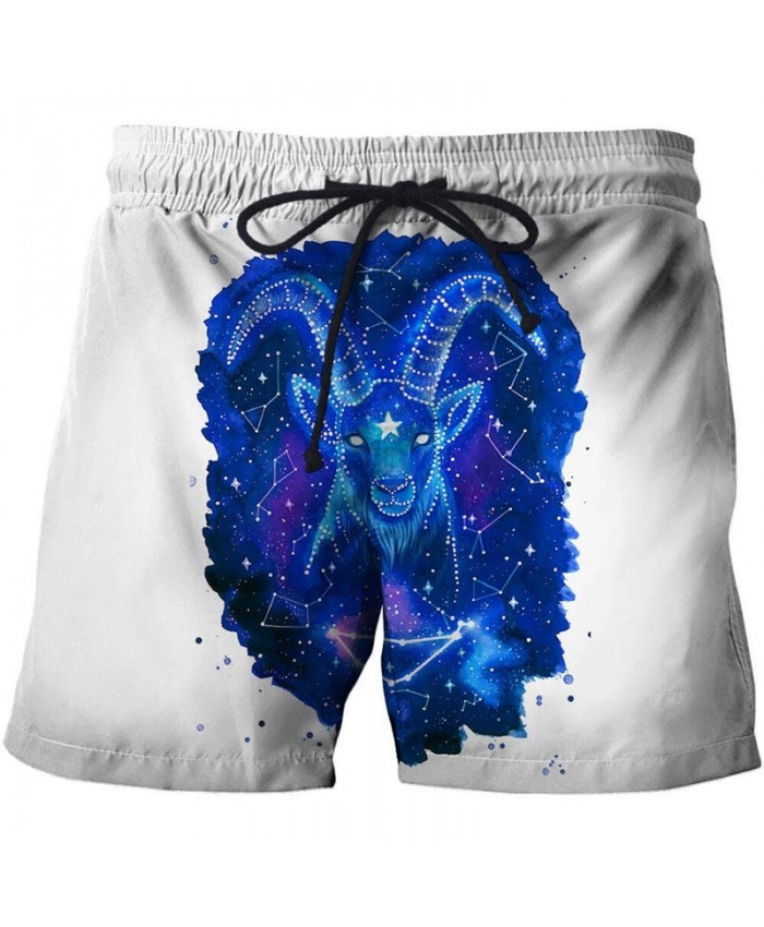 3D Print Goat By Pixie Cold Artist Men Beach Short Casual Cool Men Stone Printed Beach Shorts Summer Watersport Male