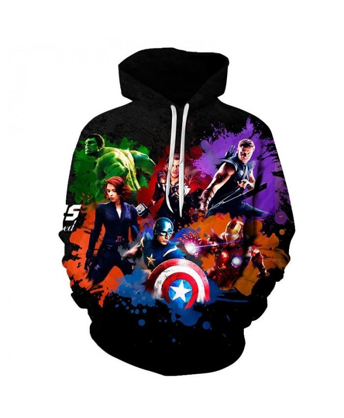 3D Print Hoodie Mens Pullover Sweatshirt Men's Avengers Endgame Sweatshirt Marvel Casual Hoodies Avengers Final Men