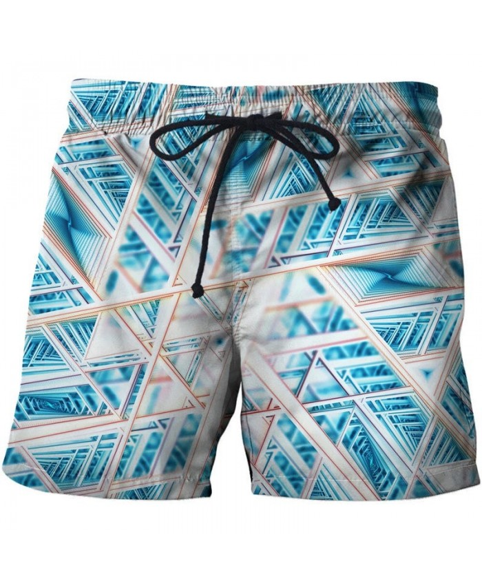 3D Print Interlaced Lines Men Shorts Casual Cool Men 2019 New Stone Printed Beach Shorts Summer Male Fitness Shorts