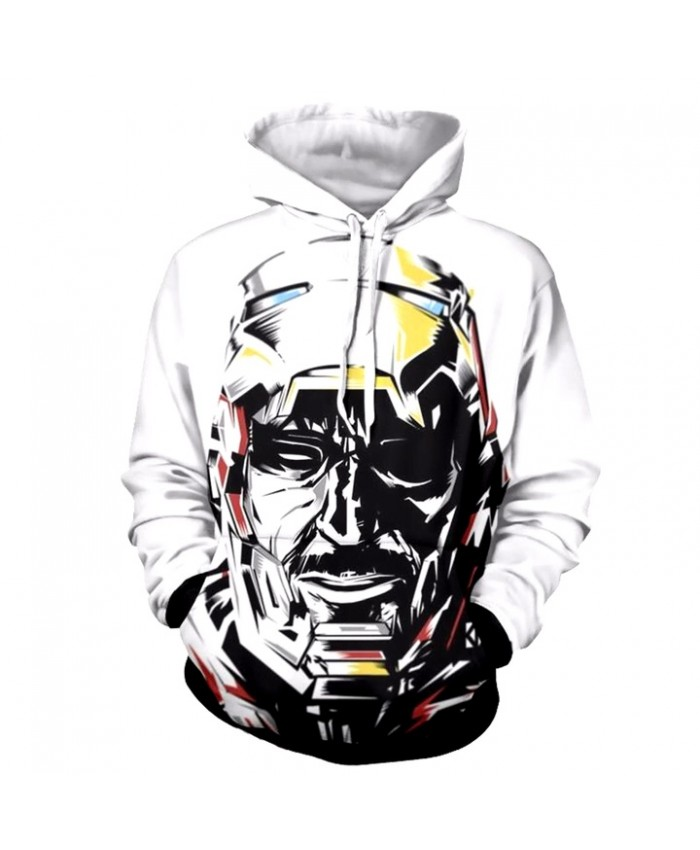 3D Print Iron Man Unisex Pullover Hoodie Funny Fashion 3D Hoodie Sweatshirt