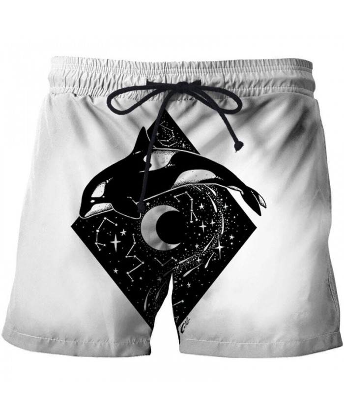 3D Print Jumping Dolphin By Pixie Cold Artist Men Beach Short Casual Cool Men Stone Printed Beach Shorts Summer Male