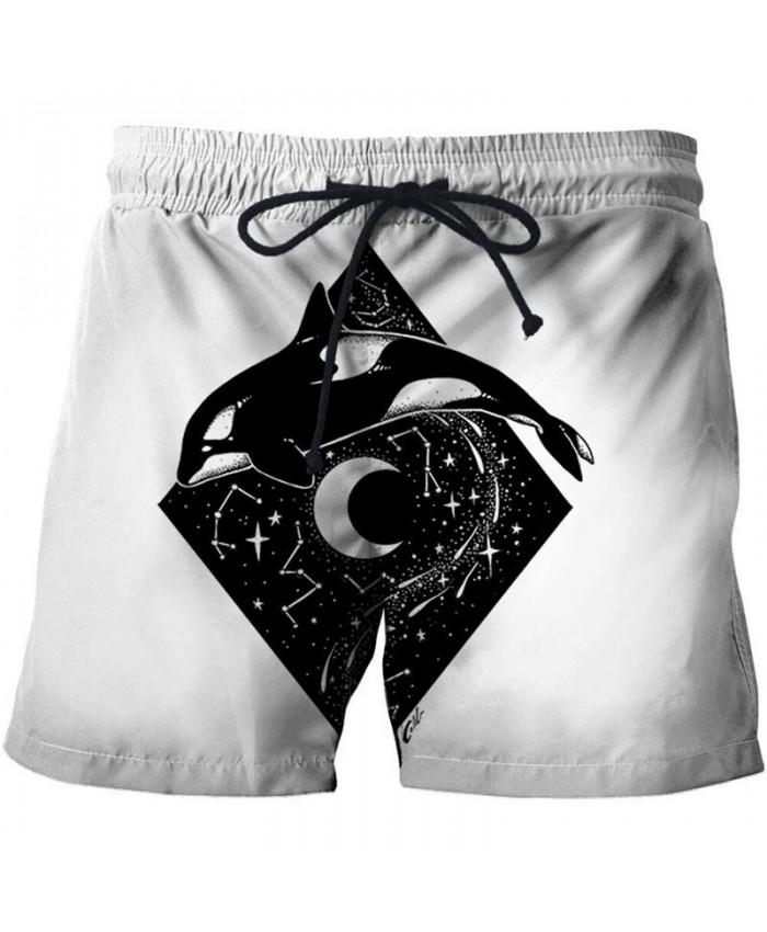 3D Print Jumping Dolphin By Pixie Cold Artist Men Beach Short Casual Cool Men Stone Printed Beach Shorts Summer Male