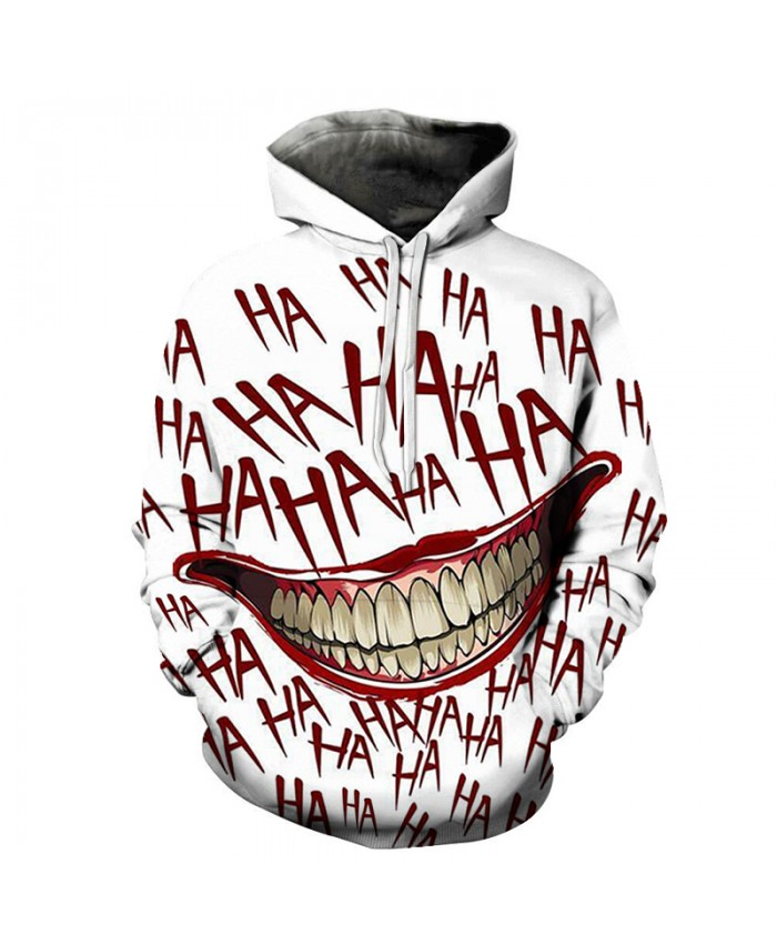 3D Print Men Hoodie Sweatshirt Tracksuit Clown Pullover Autumn Winter The Joker hoodie
