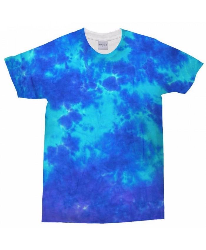 3D Print Men t shirt Sky Blue Splash Man's T Shirt Men Brand Casual Crossfit Shirt Fashion Men O-Neck