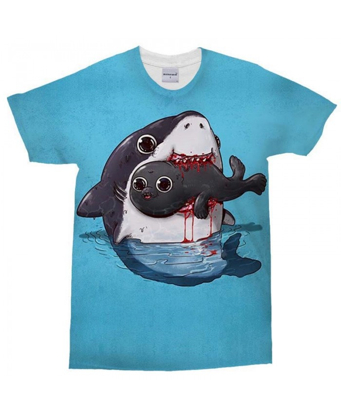 3D Print Men's T Shirt Dolphin Bleed Casual Fashion Crossfit Shirt Men Brand Tops Sell