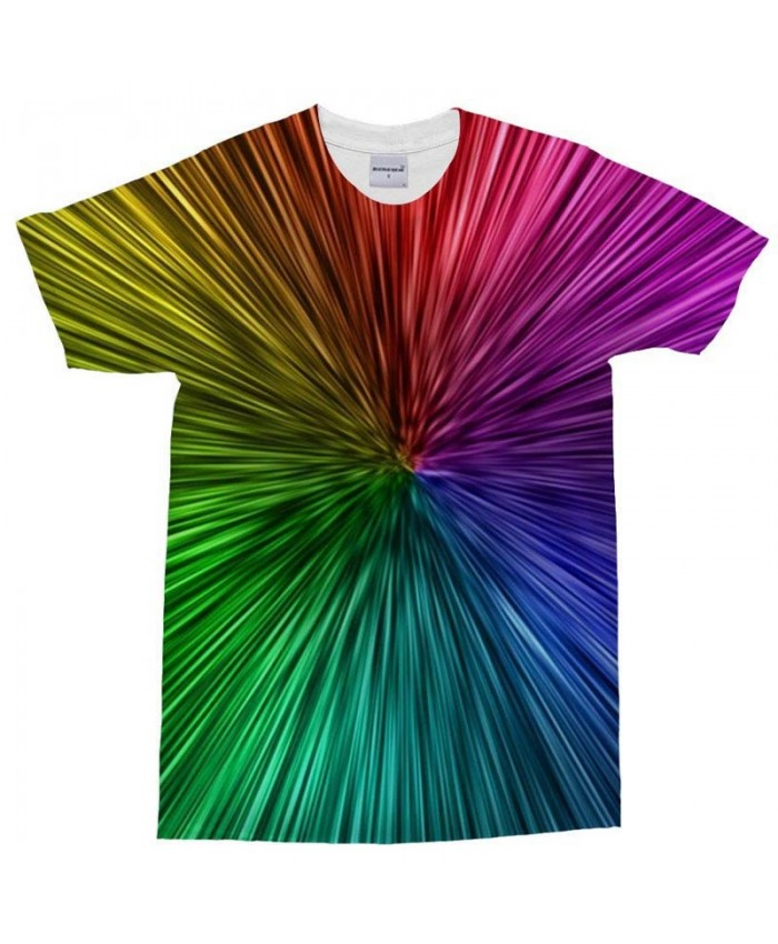 3D Print Men's t shirt Colorful rays Men Brand T Shirt Casual Crossfit Shirt Fashion Men O-Neck