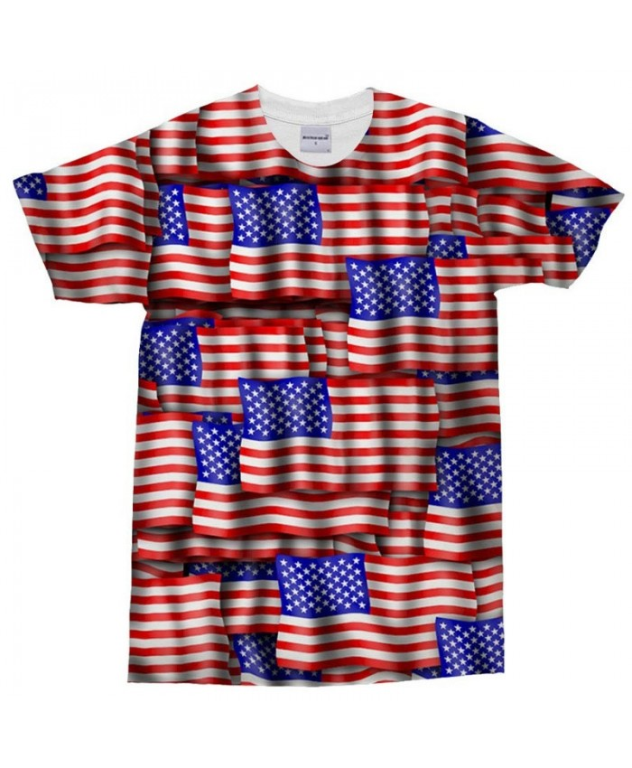 3D Print Multiple Similar Patterns T Shirt Men tshirt Summer USA Flag Men Short Sleeve O-neck Tops&Tee Drop Ship