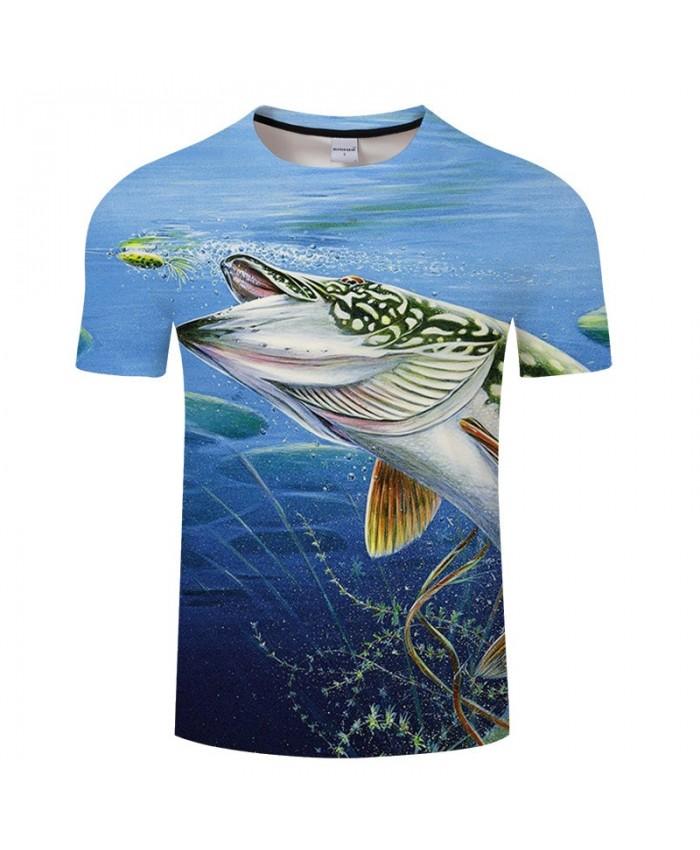 3D Print Patterned Fish T Shirt Men tshirt Summer Casual Slim Men Short Sleeve O-neck tshirt Tops&Tee Drop Ship