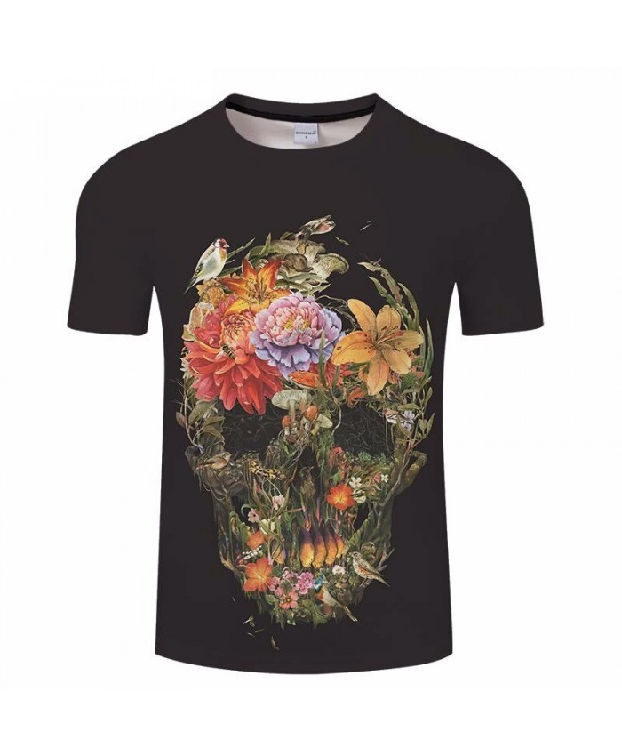 3D Print Plant Skull t shirt Fashion Man's T-shirt 2021 New Casual T Shirt Men Tops&Tee Brand