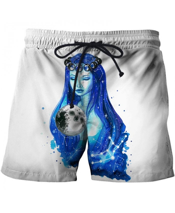 3D Print Pretty Goddess By Pixie Cold Artist Men Beach Shorts Casual Cool Men Stone Printed Beach Shorts Summer Male