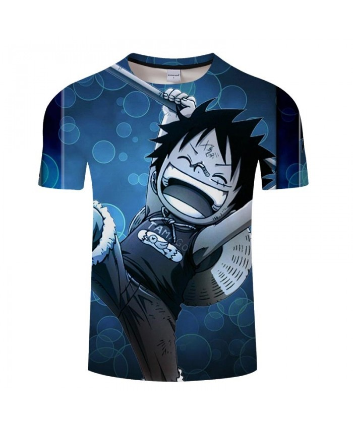 3D Print Protagonist One Piece Men tshirt Crossfit Shirt Casual Summer Short Sleeve Male tshirt Round Neck Brand Men