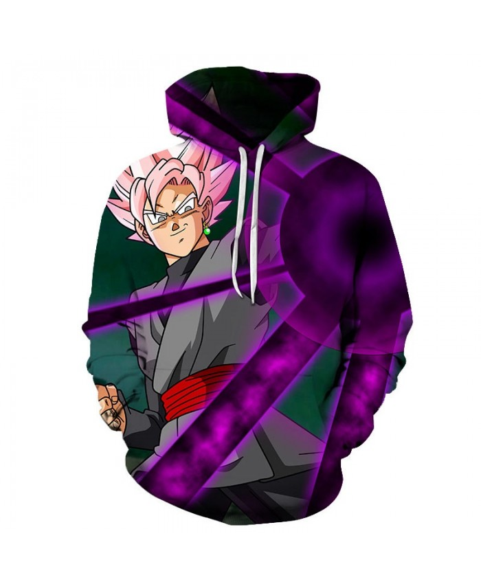 3D Print Purple Dragon Ball Men Pullover Sweatshirt Pullover Hoodie Casual Brand Hoodies Fashion Anime Men Hoodie
