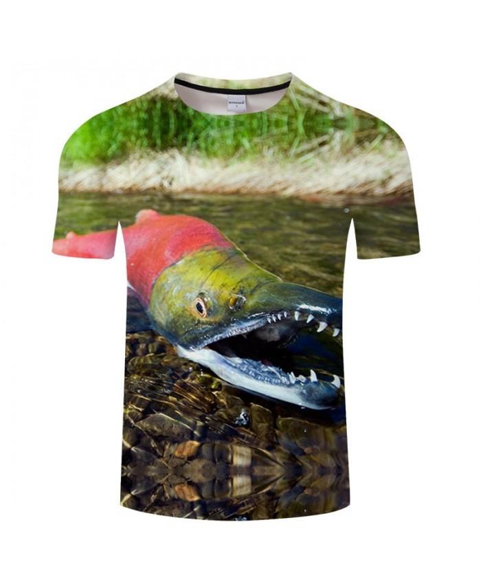3D Print Red Crocodile T Shirt Men tshirt Summer Casual Slim 2019 New Short Sleeve O-neck tshirt Tops&Tee Drop Ship