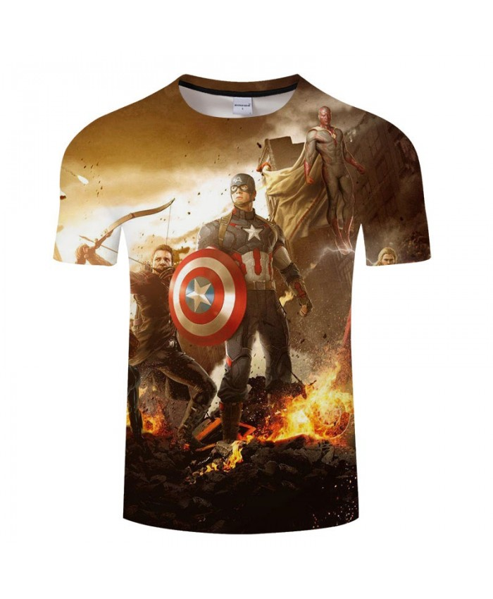 3D Print T Shirt Men Brand Marvel tshirt Summer Fashion Casual Short Sleeve O-neck Crossfit Shirt Tops&Tees Drop Ship